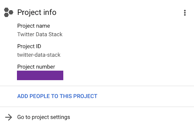 GCP project number