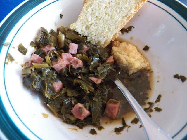 Collard Greens with Cornbread