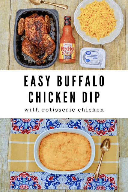 Looking for appetizers for a crowd? Try this easy buffalo dip with chicken recipe. If you use veggies to dip, it's a low carb finger foods. Make ahead for game day for party with friends. Bake this quick in the oven or or in crockpot or slow cooker. It's cheesy and makes one of the best dips with buffalo sauce.  #buffalodip #chickendip #appetizer #superbowl
