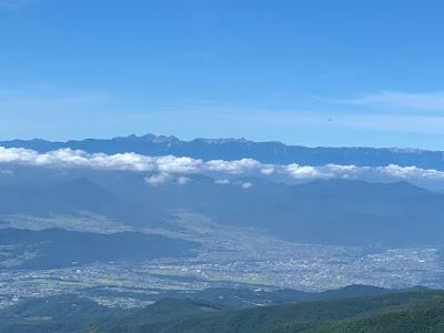 上田の町と穂高~槍ヶ岳