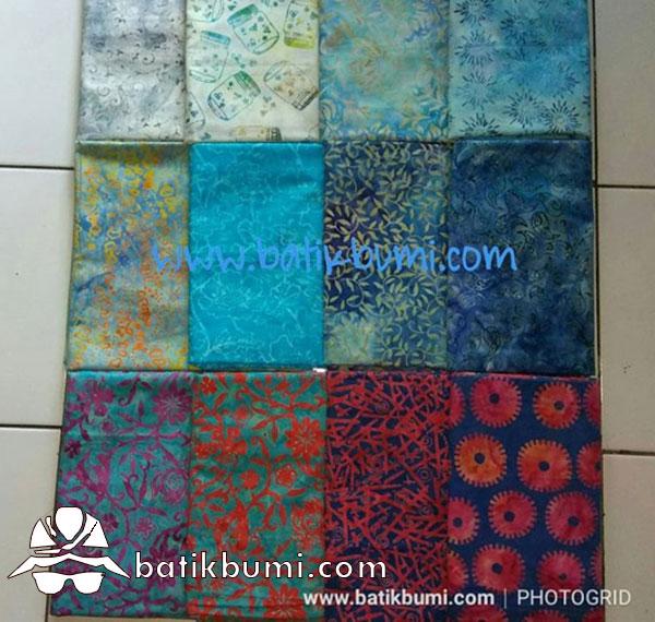 Batik Cap Smoke Blue series