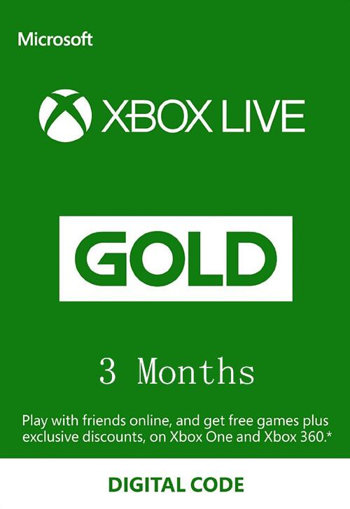 XBOX Live 3 Month Gold Membership Card Global