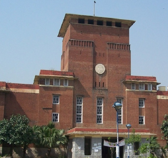 Showing Delhi University Building