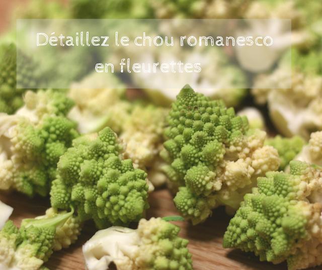 chou romanesco préparation en fleurettes recette vegan