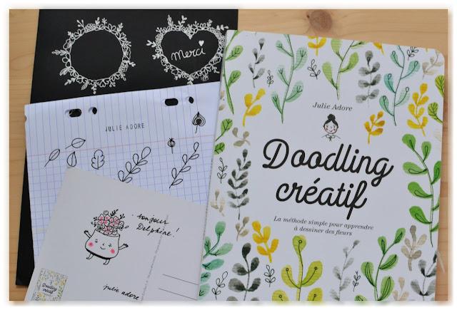 livre doodling créatif et dédicace Julie Adore