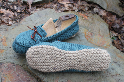 JaynetBlog: Knitted Slippers Pattern With Two Needles