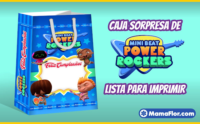 Bolsa Sorpresa de Mini Beat Power Rockers - Moldes para Imprimir