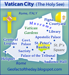 New Map of Vatican City, The Holy See