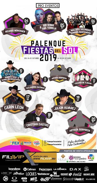 palenque fiestas del sol mexicali 2019