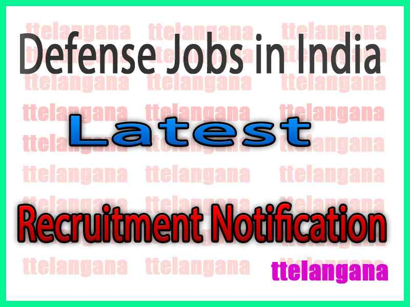 Defense Jobs in India Army Navy and Air Force Jobs