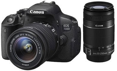 Canon EOS 700D SLR Camera With EF-S Lenses