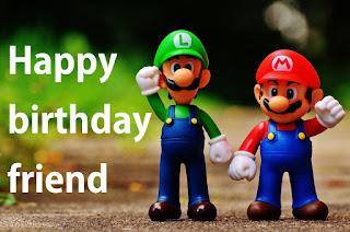 happy birthday friend funny mario image