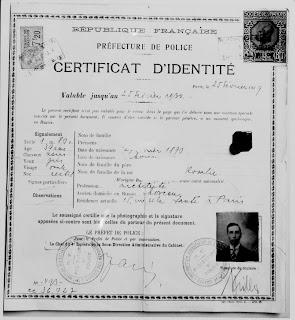 Nansen passport circa 1929