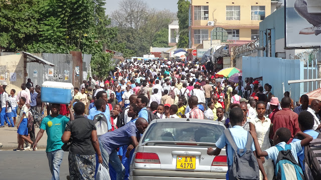 A busy place, like all other African city centers