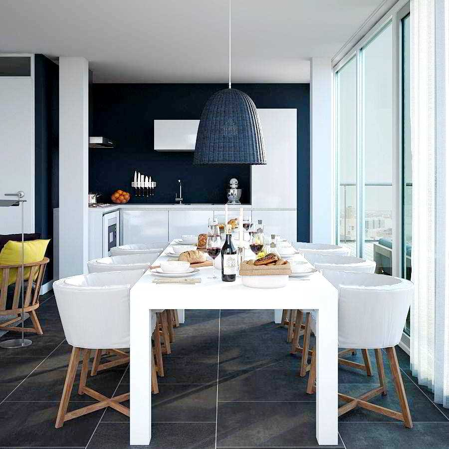 Navy Blue Kitchen Design