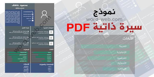 نماذج سيرة ذاتية PDF