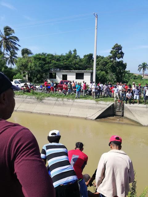 Hombre muere ahogado cuando estaba pescando en la compuerta del canal del viejo carril de navarrete.