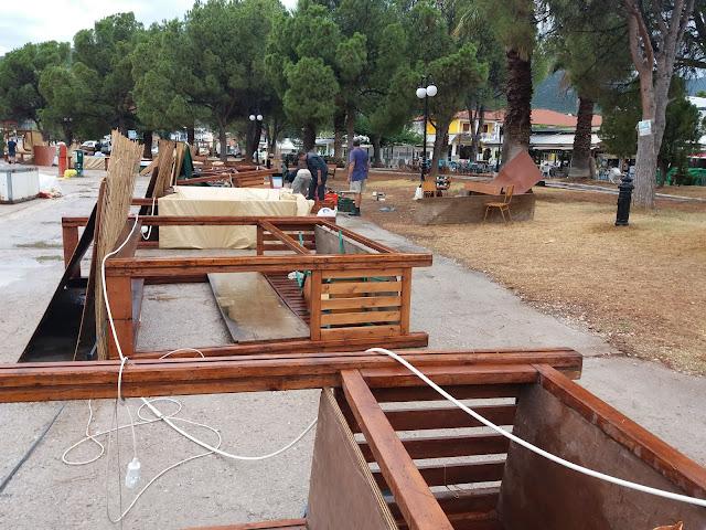 Μπουρίνι στο λιμάνι της Επιδαύρου ξήλωσε την έκθεση αγροτουρισμού