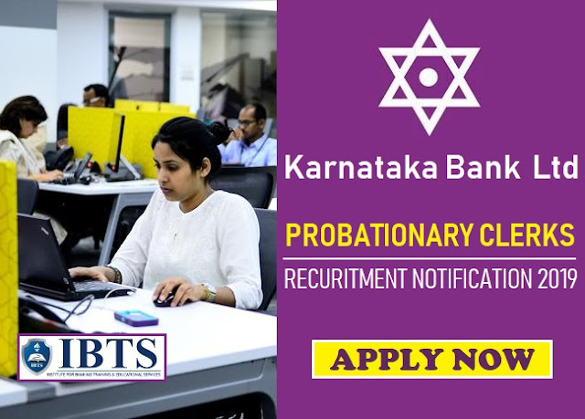 Karnataka Bank Clerk Recruitment 2019 Notification Out
