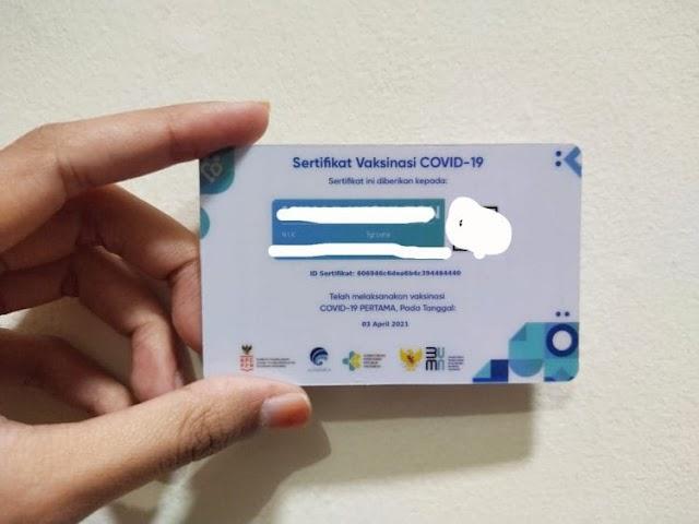 Warga Kabupaten Tegal Mulai Cetak Sertifikat Vaksin COVID-19 Seperti ATM