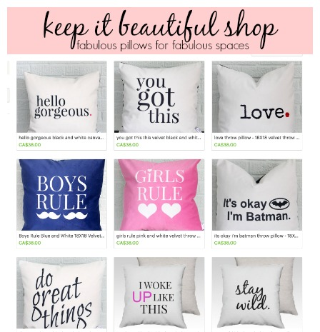 Keep It Beautiful Designs Diy Throw Pillows