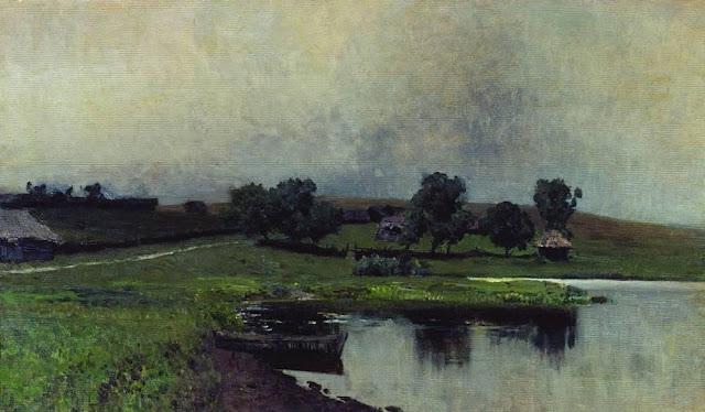 Исаак Ильич Левитан - Пасмурный день. 1890-е