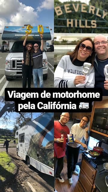 Viagem de motorhome pela Califórnia