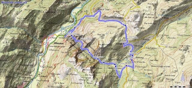 Mapa ruta de las Xanas y Valdolayés