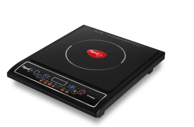 Pigeon Cruise 1800 watt Induction Cooktop (12303) with Touch Button, Induction Stove comes with 7 Preset Menus and Auto-Shut Off features (Black)