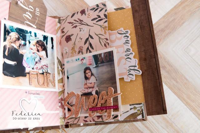 scrapbook mini album memories by kushi per Scrap it Easy
