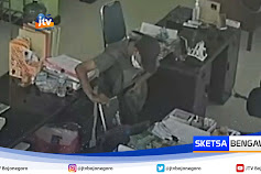 Pencurian Laptop Dan Handphone Di Kantor Diskoperindag Tuban Terekam CCTV