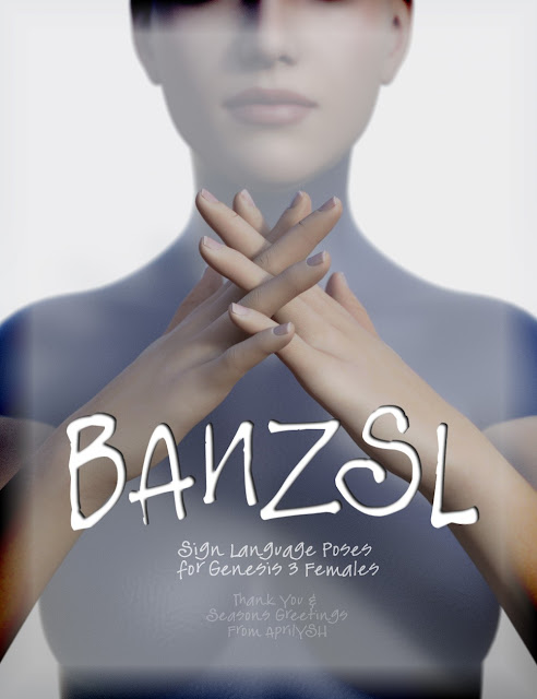BANZSL Sign Language Poses for Genesis 3 Female