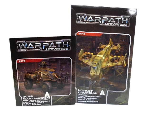 Opening the Mantic Games Warpath GCPS Mule and Hornet Dropship