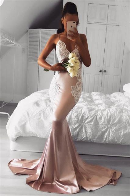 Spaghetti prom dresses