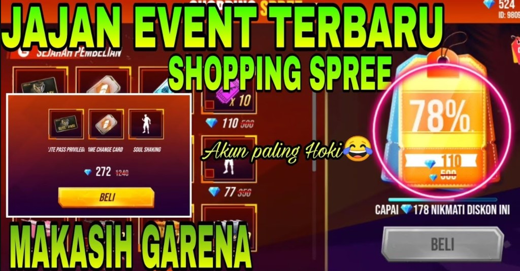 Shopping Spree Free Fire