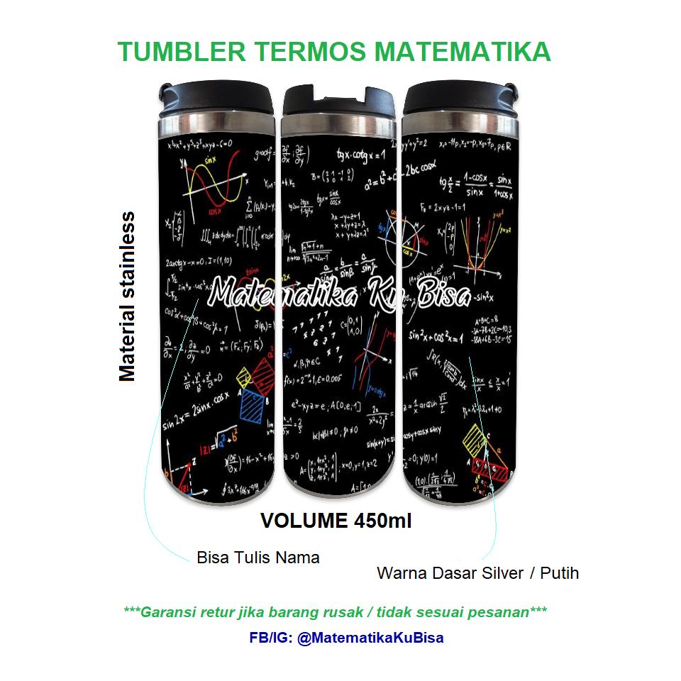 Tumbler Termos Matematika