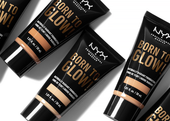 NYX Born To Glow Naturally Radiant Foundation Review Photos Swatches Before After MAC Equivalents