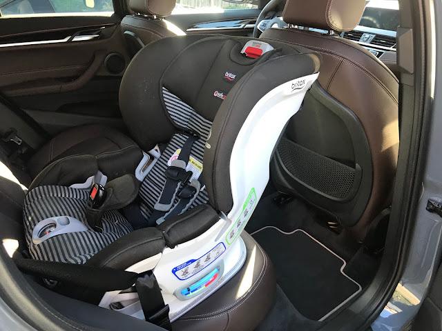 2020 BMW X1 xDrive 28i with child safety seat