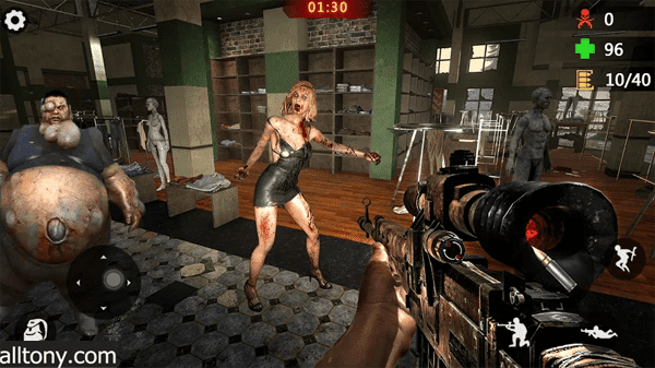 تحميل لعبة Gun Zombie 3D: New Pixel Shooting Game‏ للأيفون والأندرويد