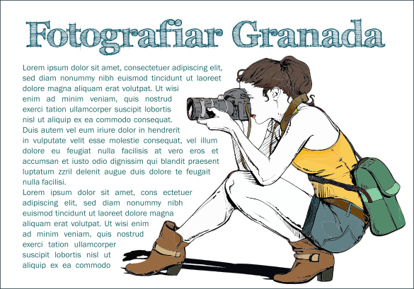 Texto bordeando una ilustración