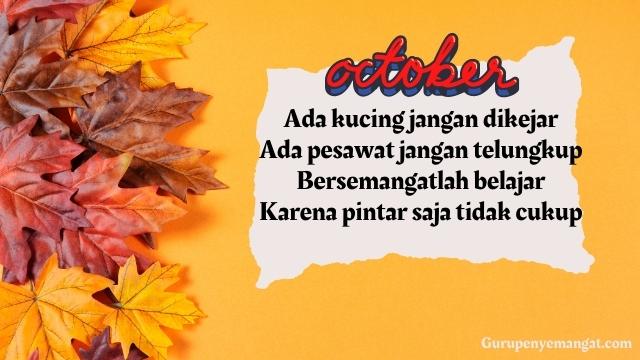 Pantun Semangat Bulan Oktober