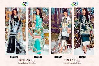 R9 Designer Breeza Vol 2 Satin Cotton Pakistani Suits