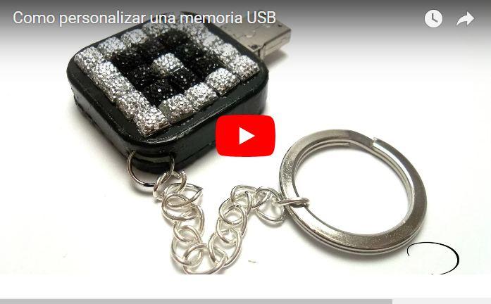 diy decorar un pendrive memoria  USB