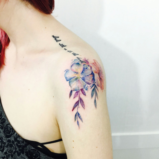 27 Awesome Picturesque Landscape Tattoo Designs: 29 Awesome Shoulder Tattoo Designs For Women