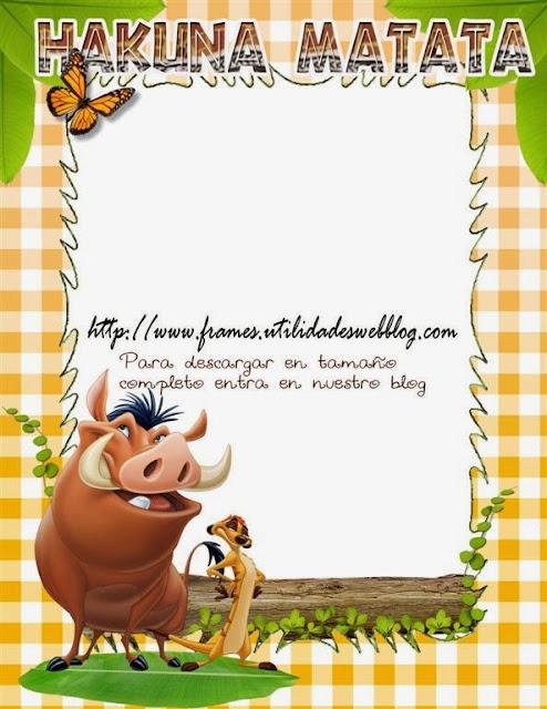 Marco para fotos inspirado en Timon y Pumba