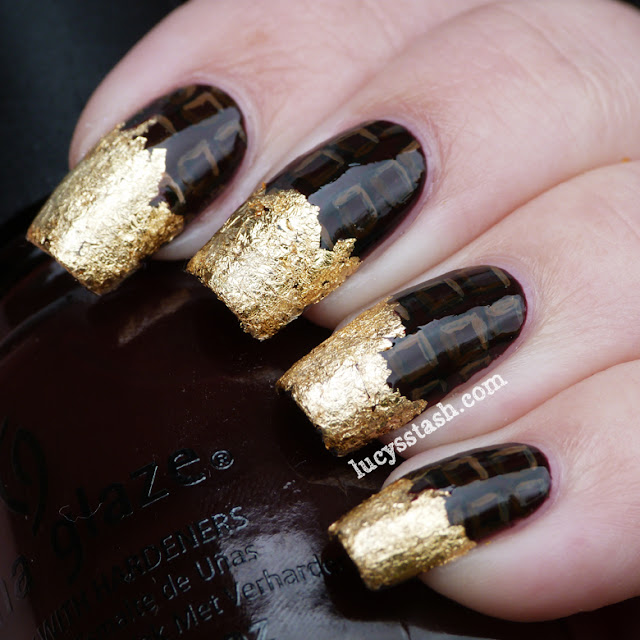 Lucy's Stash - 'chocolate in a wrapper' nails
