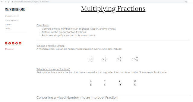 Free Multiplying Fractions Notes 1