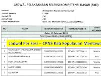 Jadwal Ujian Per Sesi - CPNS 2019 Kab Kep. Mentawai