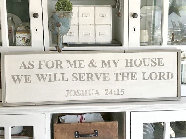 Painting a Large Bible Verse Sign