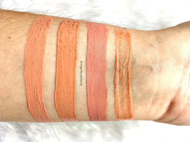 lipstick swatches, LOreal off white, anastasia undressed, ofra nude potion